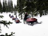 Snowmobile driving school