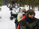 Tour 4 - Snowmobile safari with sleigh for families